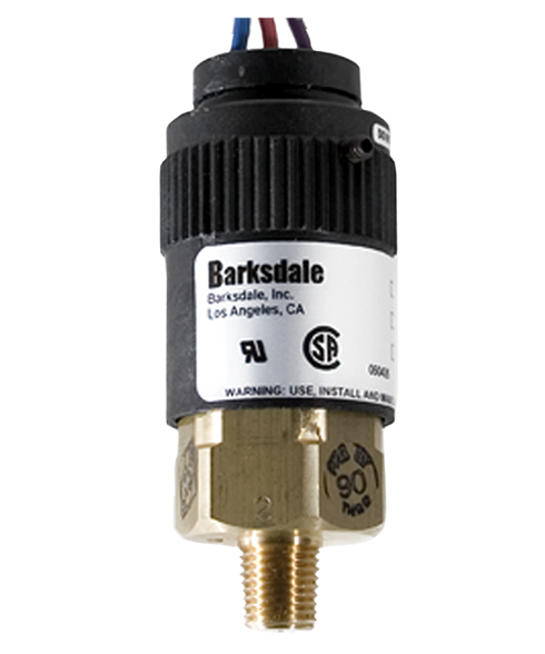 Barksdale Series 96221 Compact Pressure Switch, 1 to 30 In Hg Vacuum, 96221-CC1