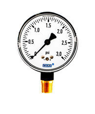 WIKA Type 611.10 Low Pressure Gauge 0-3 PSI 9851925