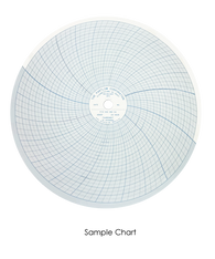 "Partlow Circular Chart, 10"", 24 Hr, 0 to 2000, 20 divisions, Box of 100, 00213810"