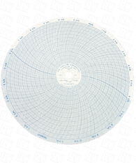 """Partlow Circular Chart, 10"""", 24 hour, 0 to 600, 5 divisions, Box of 100, 00213817"""