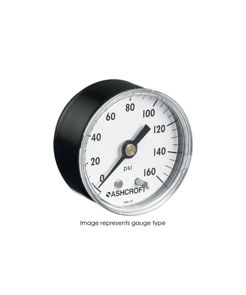 Ashcroft Type 1005 Commercial Pressure Gauge 0-60 PSI 15-W-1005-H-01B-60#