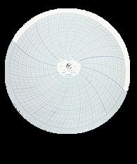 "Partlow Circular Chart, 12"", 7 Day, 0-100, Box of 100, 00215323"