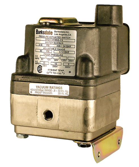 Barksdale Series DPD2T Diaphragm Differential Pressure Switch, Housed, Dual Setpoint, 0.4 to 18 PSI, DPD2T-H18SS-L6