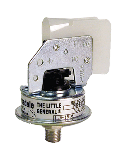 Barksdale Series MSPS Industrial Pressure Switch, Stripped, Single Setpoint, 1.5 to 15 PSI, MSPS-FF15SS-E
