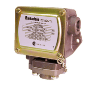 Barksdale Series P1H Dia-seal Piston Pressure Switch, Housed, Single Setpoint, 5 to 30 PSI, P1H-B30