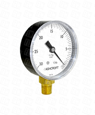Ashcroft Type 1005 Commercial Pressure Gauge 0-30 in Hg Vacuum 20-W-1005-H-02L-30IMV