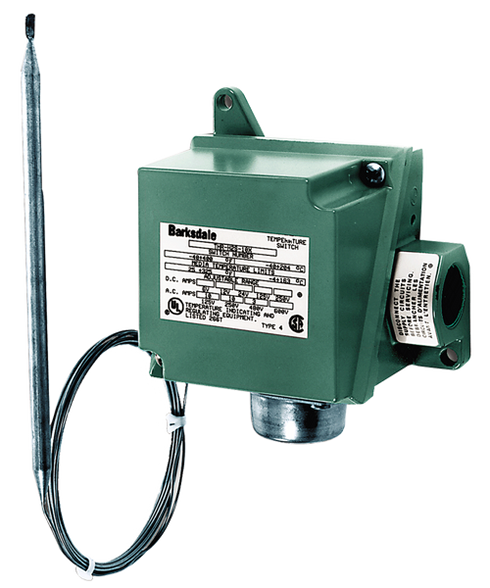 Barksdale THL Series Temperature Switch, 15 F to 140 F, THL-L1S-X-Q10