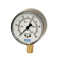 WIKA Type 611.10 Low Pressure Gauge 0-200IWP 9851887