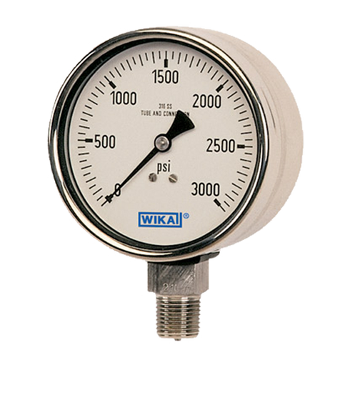 WIKAType 233.30 Bourdon Tube Pressure Gauge 0-300 PSI-NACE 52016978