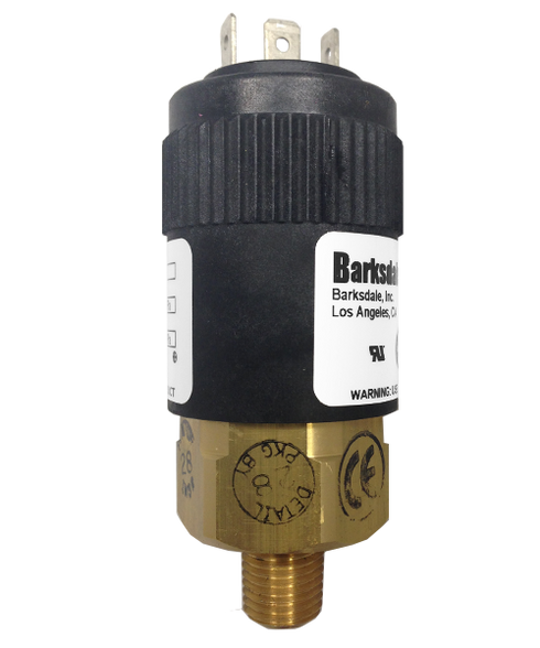 Barksdale Series 96201 Compact Pressure Switch, 3650 to 7500 PSI, 96201-BB4-T1-Z12