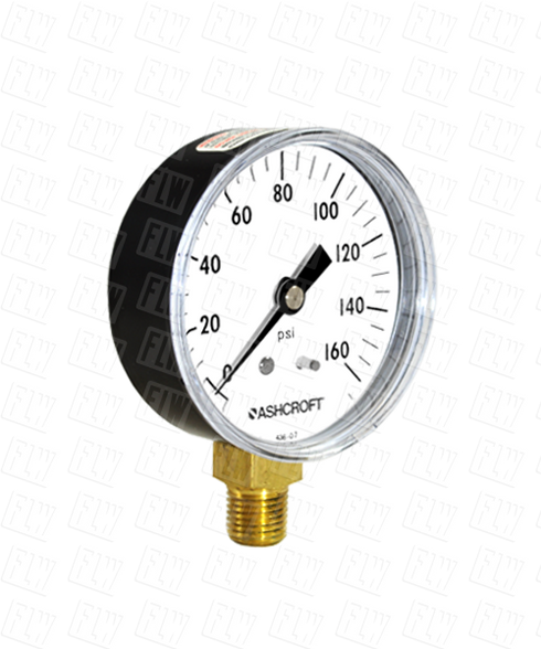 Ashcroft Type 1005 Commercial Pressure Gauge 0-160 PSI 25-W-1005-H-02L-160#