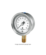 Ashcroft Type 1009 Stainless Steel Duralife Pressure Gauge 30 in Hg Vacuum / 60 PSI 25-1009-AW-02L-30INX60#