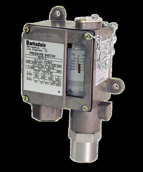 Barksdale Series 9675 Sealed Piston Pressure Switch, Housed, Single Setpoint, 425 to 6000 PSI, DA9675-4-AA-V