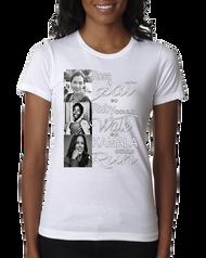 Rosa, Ruby & Kamala T-shirt in White