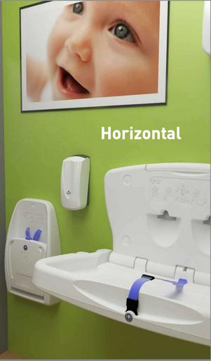 Horizontal Babychange Unit White