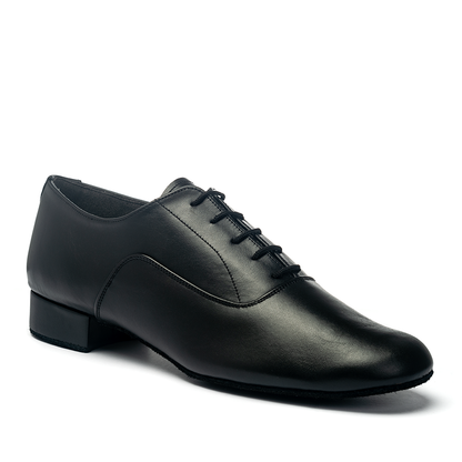 "Oxford - Black Calf - Pictured on the 1"" heel."