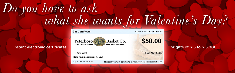 Peterboro Basket Gift Certificate