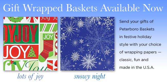 Peterboro Basket Gift Wrap