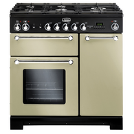 FALCON 90CM CREAM KITCHENER DUAL FUEL FREESTANDING OVEN - SPLIT OVENS - KCH90DFFCR