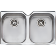 OLIVERI DIAZ DOUBLE BOWL SINK WITH 3 ACCESSORIES - DZ10U