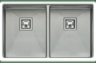 OLIVERI PROFESSIONAL DOUBLE BOWL SQUARE SINK WITH 2 x BOWL PROTECTORS - PR1163U