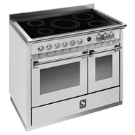 STEEL 100CM ASCOT FREESTANDING COMBI-STEAM OVEN  - INDUCTION COOKTOP - A10SF-6I