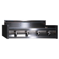 STEEL IN-BUILT FOUR BURNER BBQ - I9-4