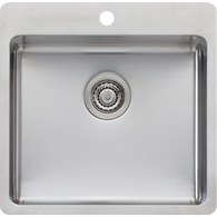 OLIVERI SONETTO 470MM SINGLE BOWL TOPMOUNT SINK - SN1051