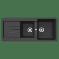 ABEY SCHOCK CRISTALITE 1 3/4 BOWL TYPOS SINK – TD200B/TD200W
