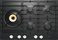 ASKO 75CM GRAPHITE BLACK GAS COOKTOP - 5 BURNER - HG1776AD