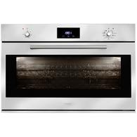 ILVE 90CM MULTI FUNCTION OVEN  - KNOB CONTROLS WITH CLOCK- 900SKMPI
