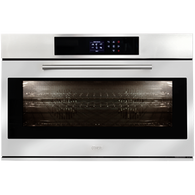 ILVE 90CM TOUCH CONTROL OVEN  WITH BLACK GLASS - 900STCPBV