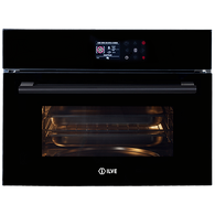 ILVE 45CM INBUILT COMBINATION MICROWAVE AND OVEN - BLACK GLASS - ILCM45BV