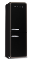 SMEG 330L BLACK RETRO BOTTOM MOUNT FRIDGE/FREEZER (RIGHT HAND HINGE ONLY)*- FAB32