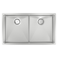 ABEY PIAZZA S/STEEL DOUBLE BOWL SINK - CR340D