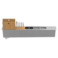 ABEY CANALE SLIM 1200 INBUILT KITCHEN ACCESSORY HOLDER – 5 ACCESSORIES – PSA1200