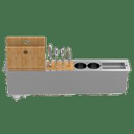 ABEY CANALE SLIM 900 INBUILT KITCHEN ACCESSORY HOLDER – 4 ACCESSORIES – PSA900