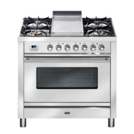 ILVE 90CM FREESTANDING GAS OVEN WITH TEPPANYAKI PLATE- PW90FVG