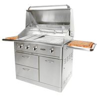 "CAPITAL 40"" BUILT IN HOODED BBQ WITH OPEN GRILL & SMOKER BOX - ACG40RFS.1 N/L"