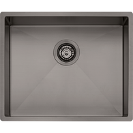 OLIVERI SPECTRA 500MM GUN METAL SINGLE BOWL SINK - SB50GM
