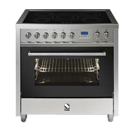 STEEL 90CM ENFASI FREESTANDING OVEN WITH INDUCTION COOKTOP - 5 ZONES - E9F-6I