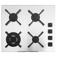 BARAZZA 60CM UNIQUE GAS COOKTOP - SATIN - 1PSU64