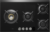 ASKO VOLCANO 80CM GAS ON GLASS COOKTOP - 4 BURNER - HG1825AD