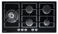 BAUMATIC 90CM GAS ON GLASS COOKTOP - BSGH95 EX DISPLAY*