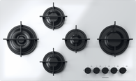 BARAZZA 90CM MOOD WHITE GAS ON GLASS COOKTOP - 1PMD95W