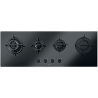 BARAZZA 110CM MOOD BLACK GAS ON GLASS COOKTOP - 1PMD104B