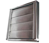 DEFLECTO 125mm STAINLESS STEEL WALL VENT - GRAVITY LOUVERED - GVSS125