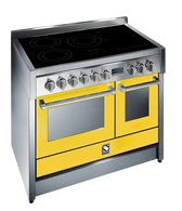 STEEL 100CM GENESI FREESTANDING COMBI-STEAM OVEN  - 5 ZONE INDUCTION FLEXIZONE COOKTOP - G10SEF-5FI