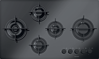 BARAZZA 90CM MOOD BLACK GAS ON GLASS COOKTOP - 1PMD95B