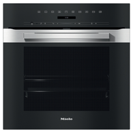 MIELE 60CM PURELINE CLEAN STEEL PYROLYTIC OVEN - H7264BP